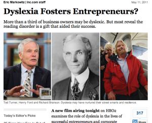 Dyslexia Fosters Entrepreneurs?